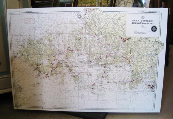 Saaristomeren Kartta Antiikkiliike Wanha Elias