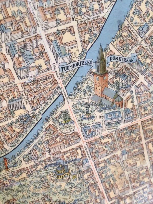 Turun Kartta Antiikkiliike Wanha Elias